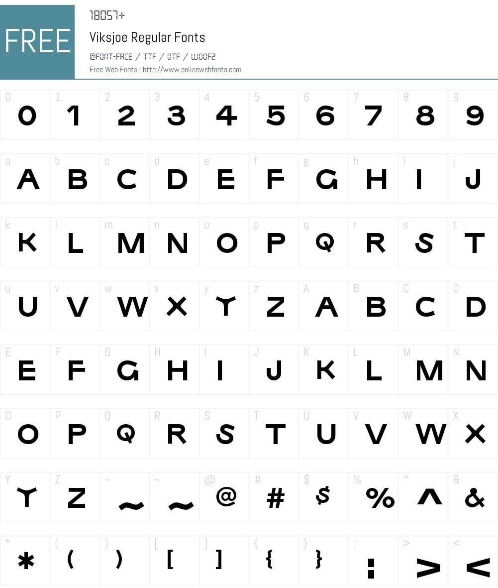 Viksjoe Regular Font Screenshots