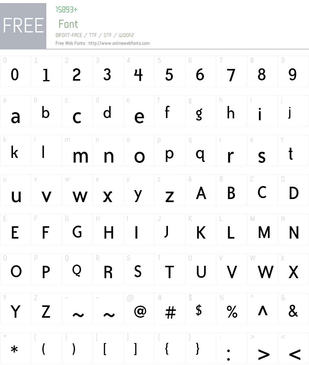 Bailey Sans ITC Std Font Screenshots