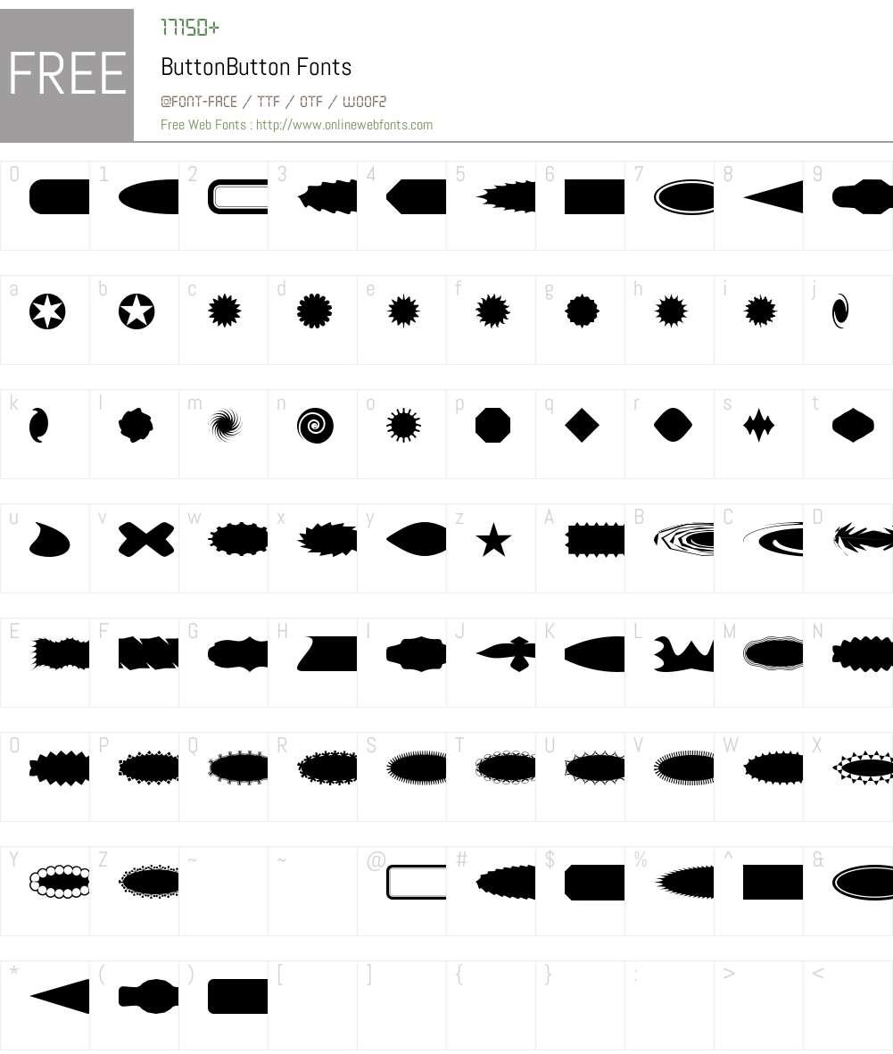 ButtonButton Font Screenshots