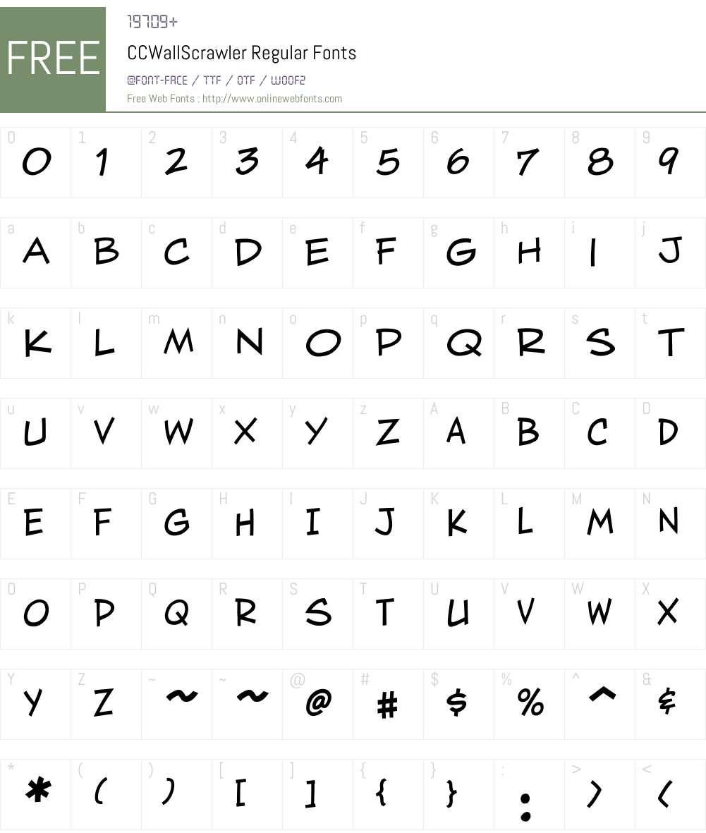 CCWallScrawler-Regular Font Screenshots