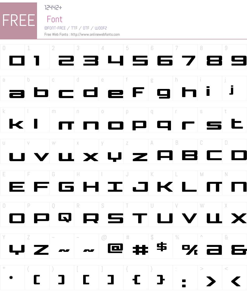 Phoenicia Lower Case Font Screenshots
