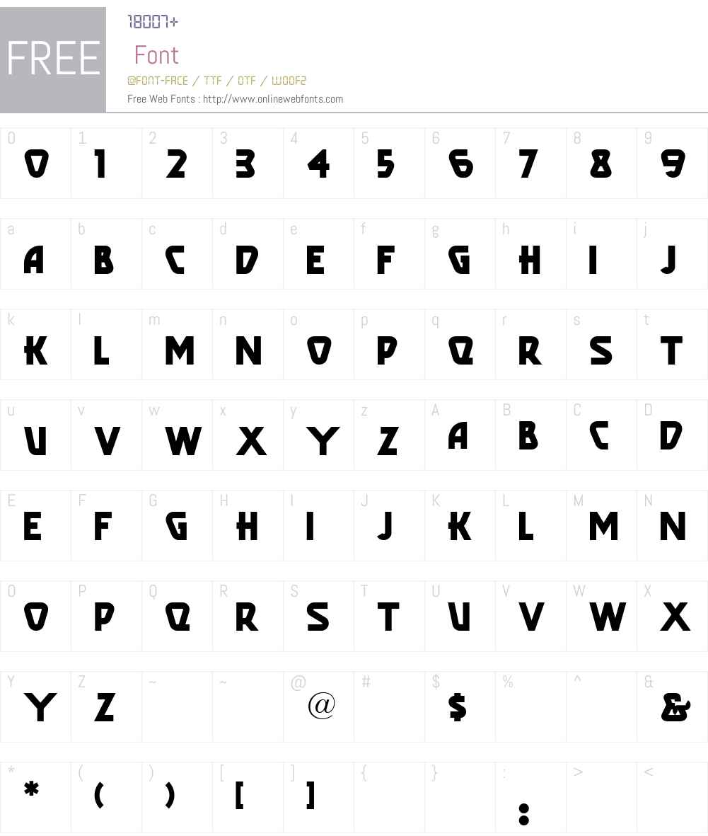 PopularCafeAA Font Screenshots