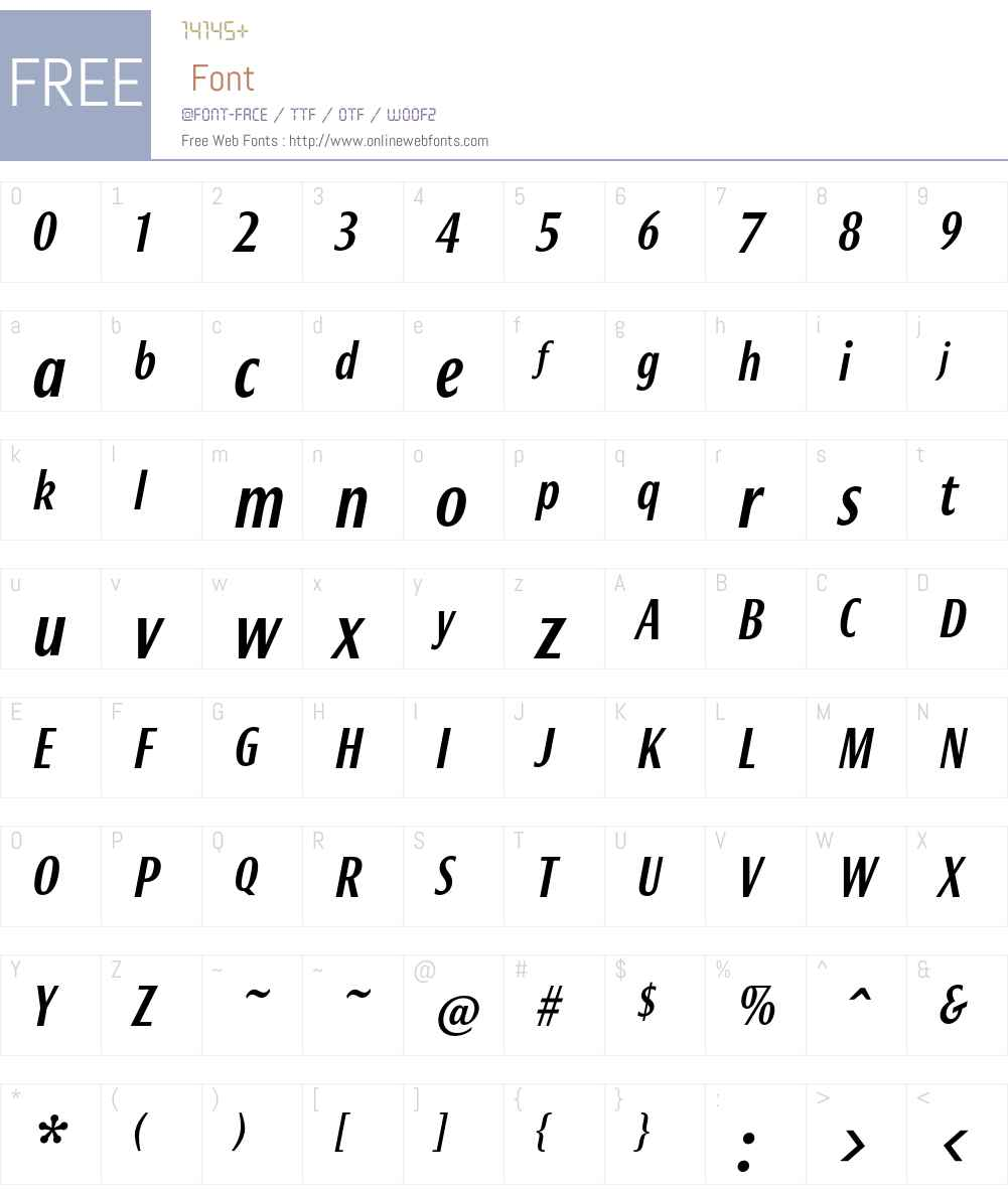 Bureau Font Screenshots