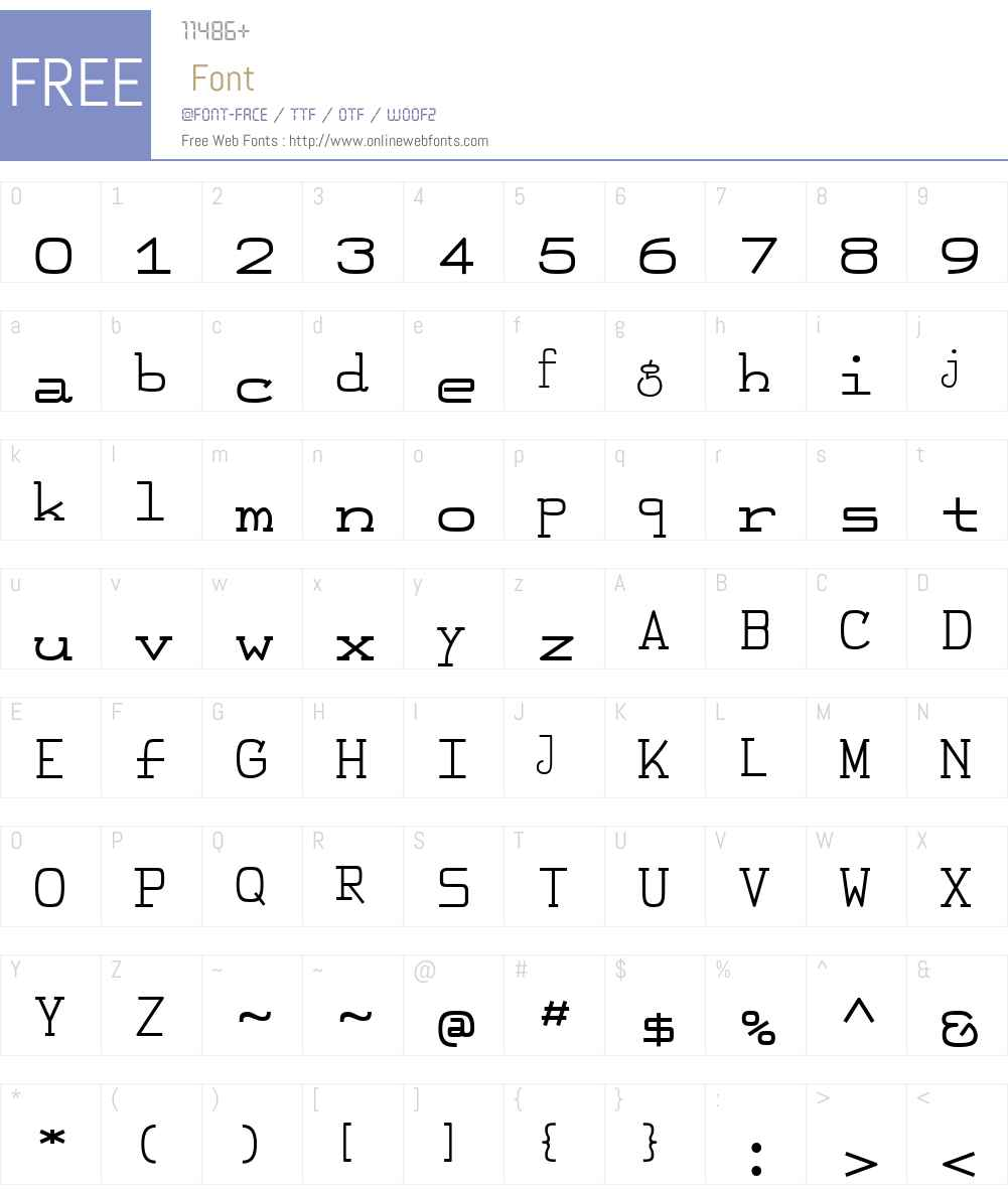 FeggoliteMonoW00-Bold Font Screenshots