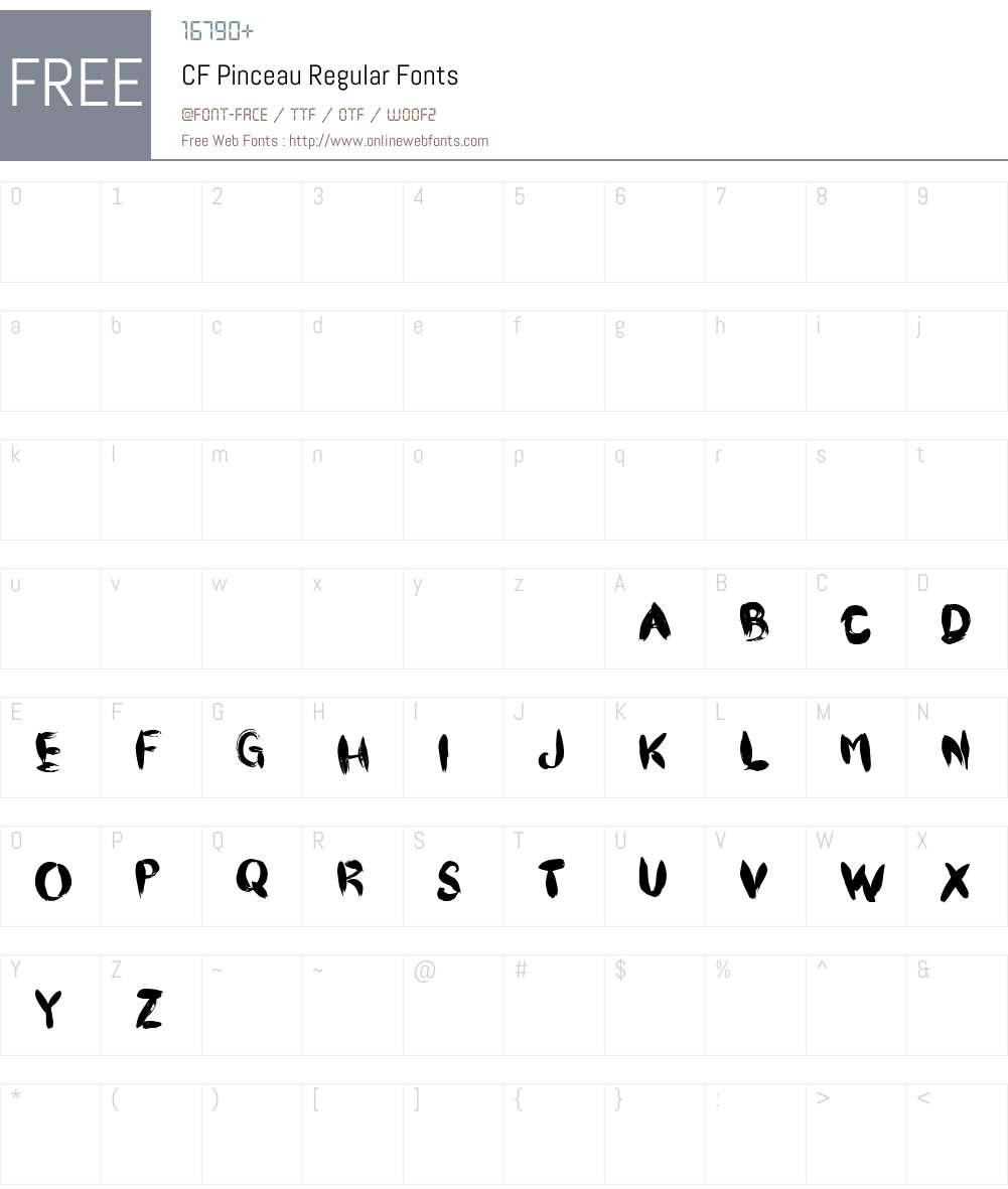 CF Pinceau Font Screenshots