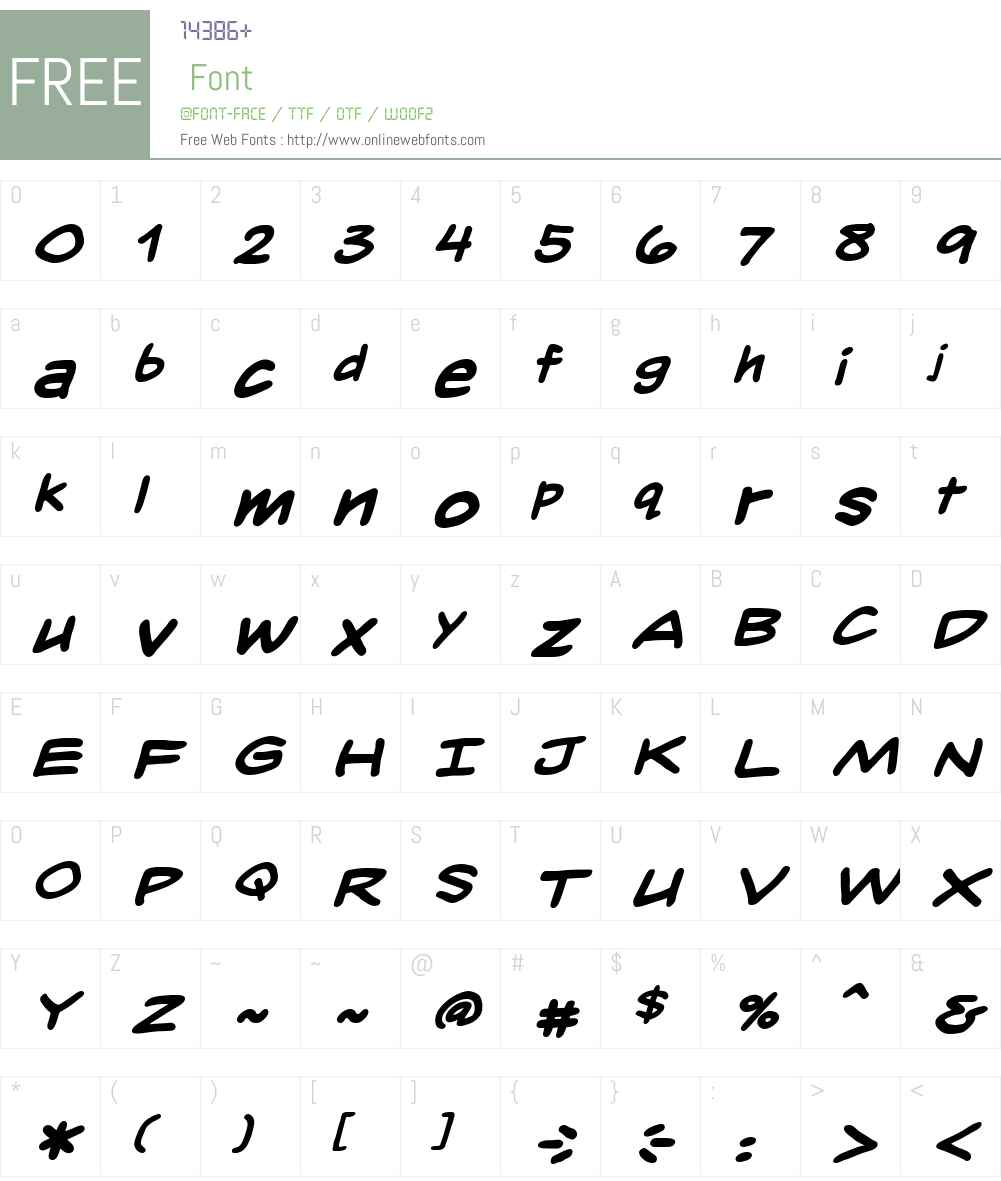 InkslingerLCBB-BoldItalic Font Screenshots