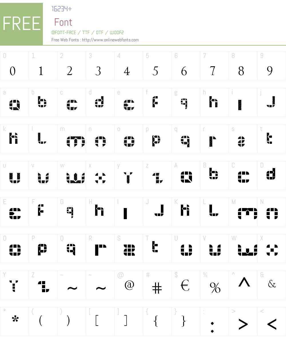 BUIS Font Screenshots