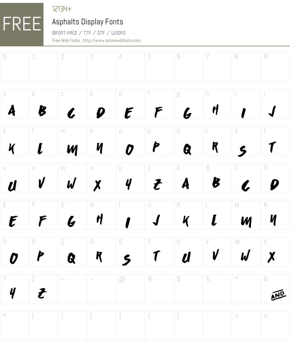 Asphalts Display (Personal Use) Font Screenshots