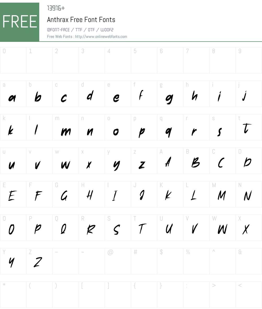 Anthrax Free Font Font Screenshots