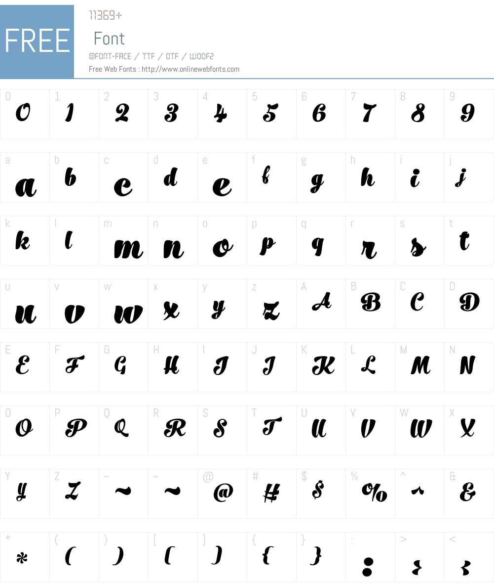 No.SevenBlackW00-Regular Font Screenshots