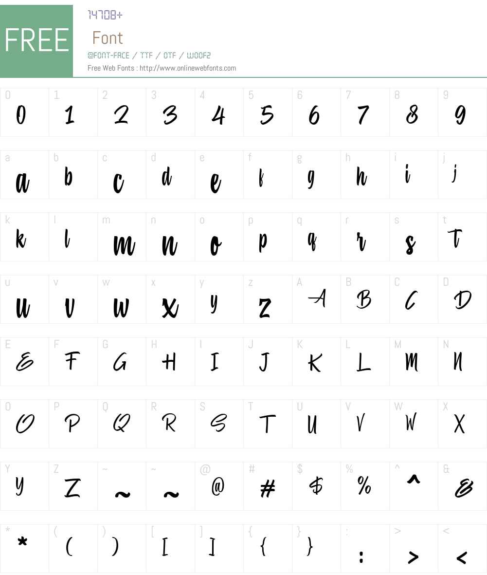 Hiluck Font Screenshots
