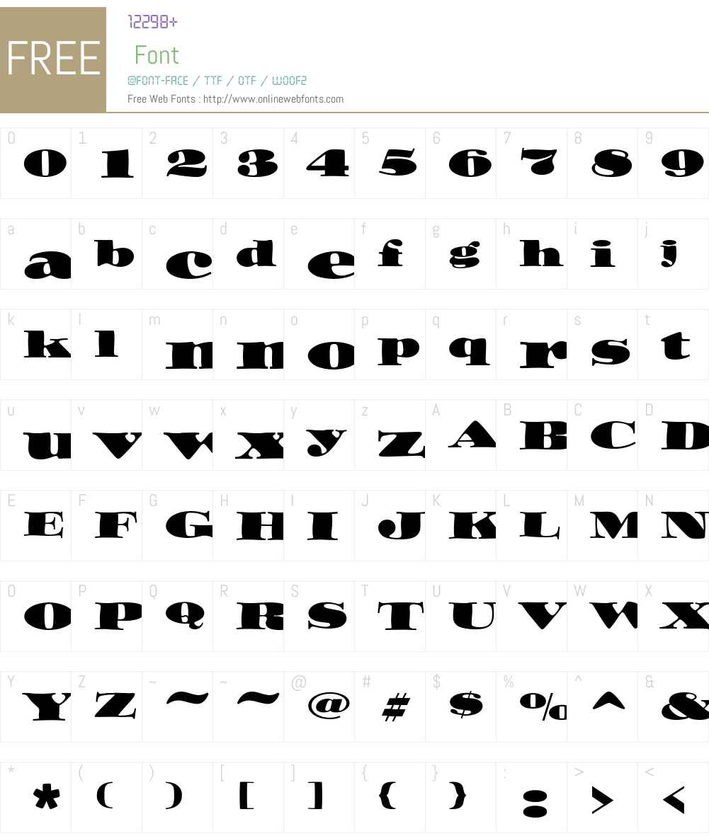 ITC Ozwald Std Font Screenshots