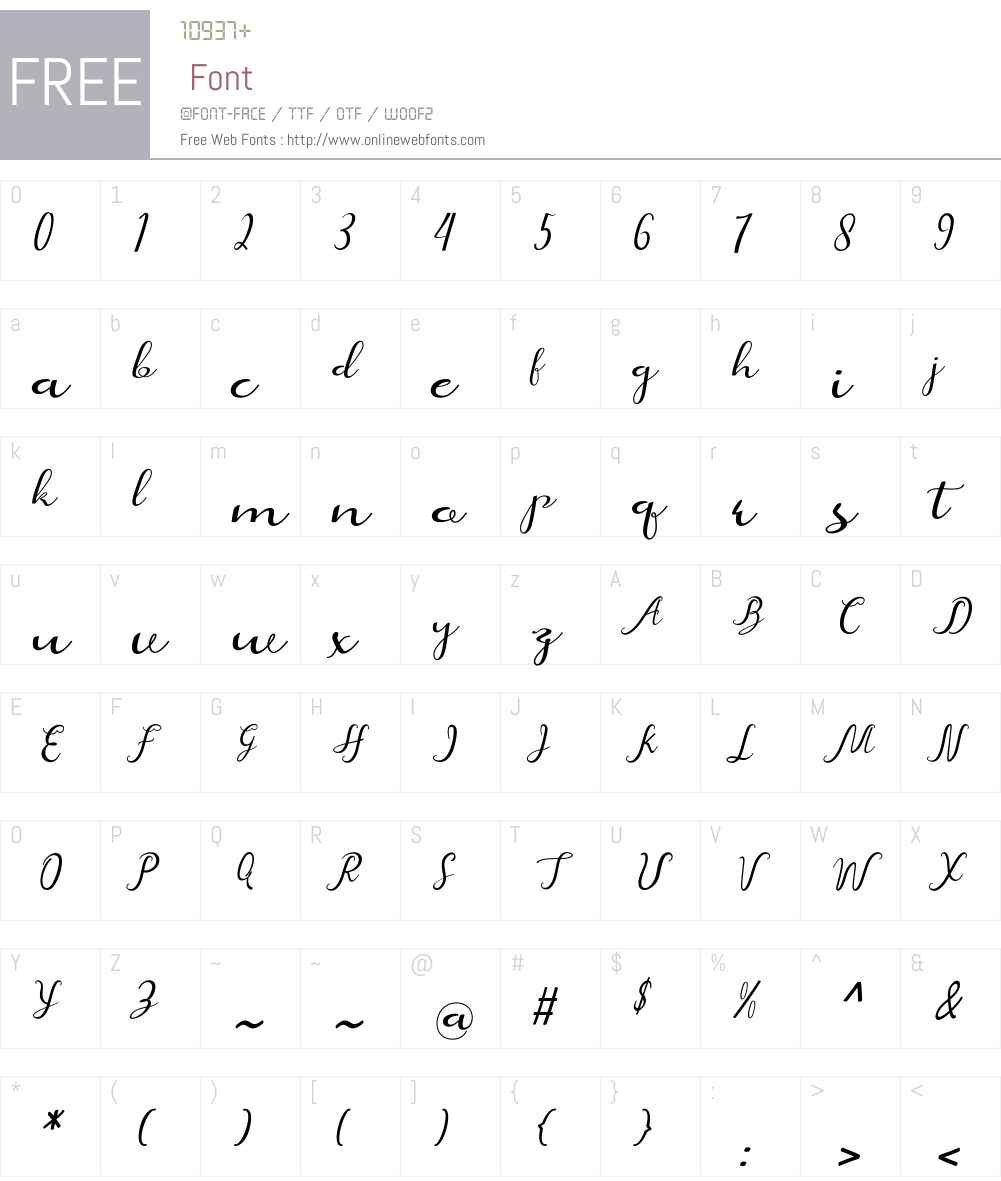beatiful Font Screenshots
