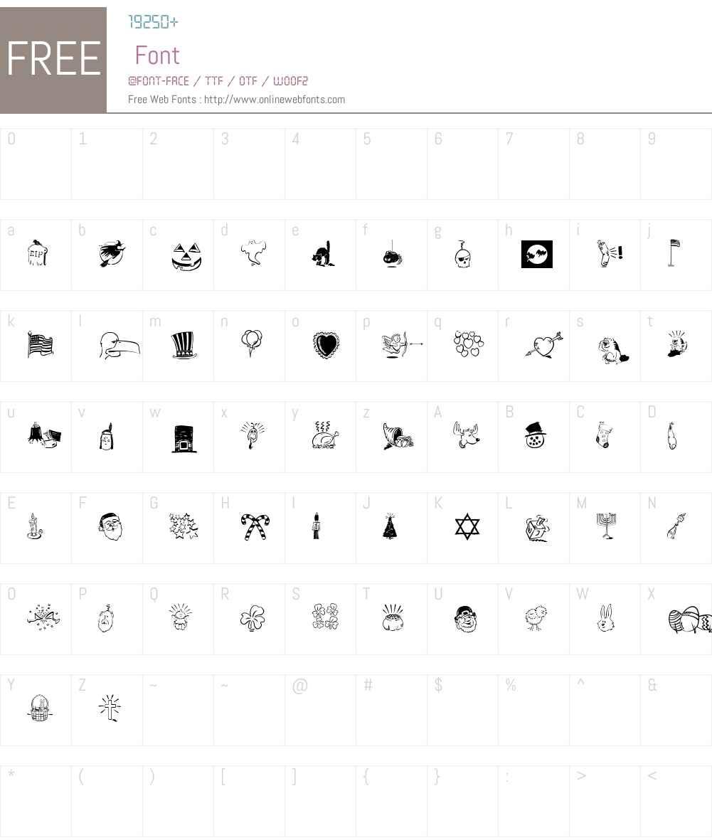 CelebrateW95-Regular Font Screenshots