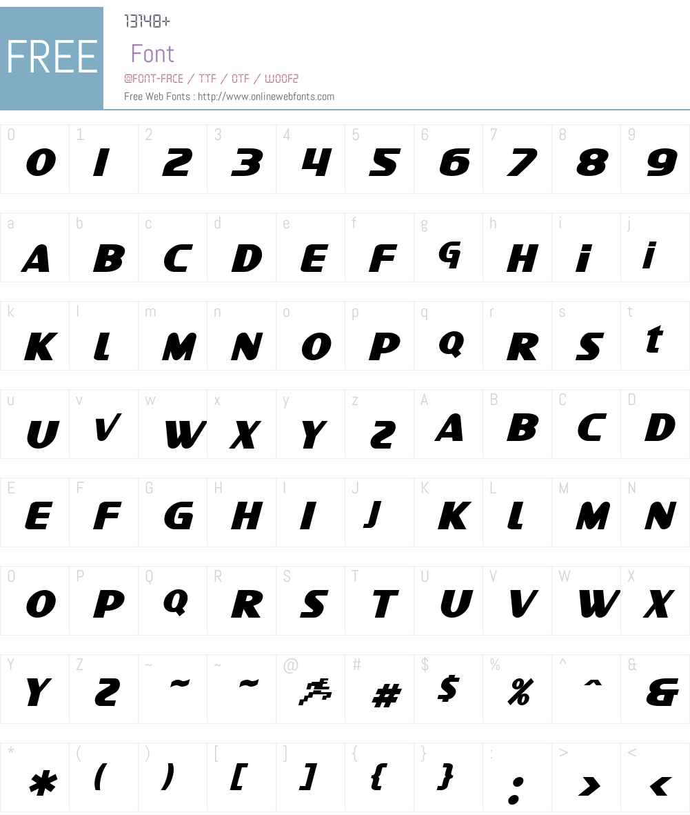 SF Intellivised Font Screenshots