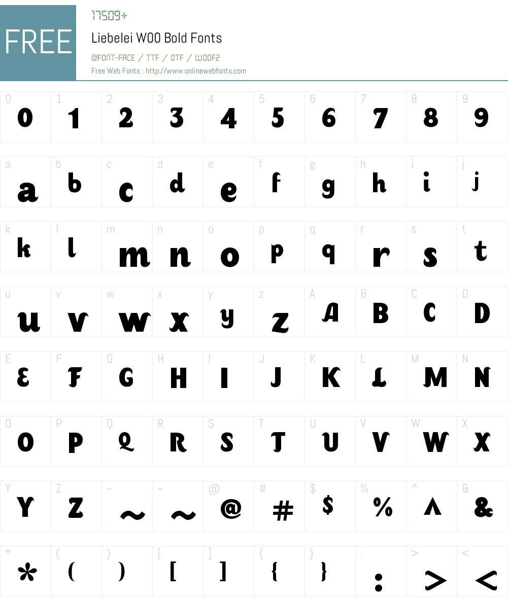 LiebeleiW00-Bold Font Screenshots