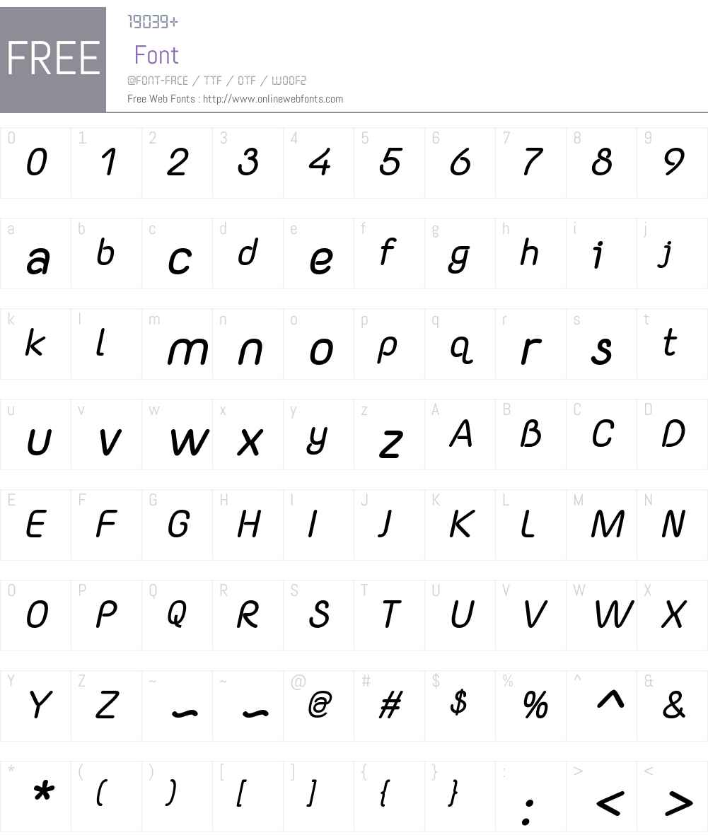 Yaahowu Bold Italic Font Screenshots