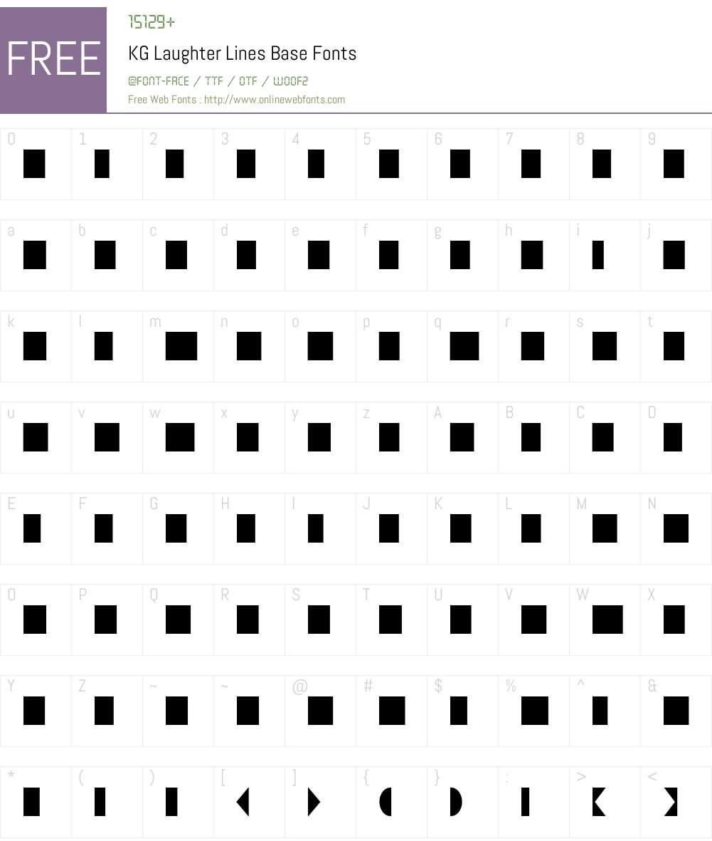 KG Laughter Lines Base Font Screenshots
