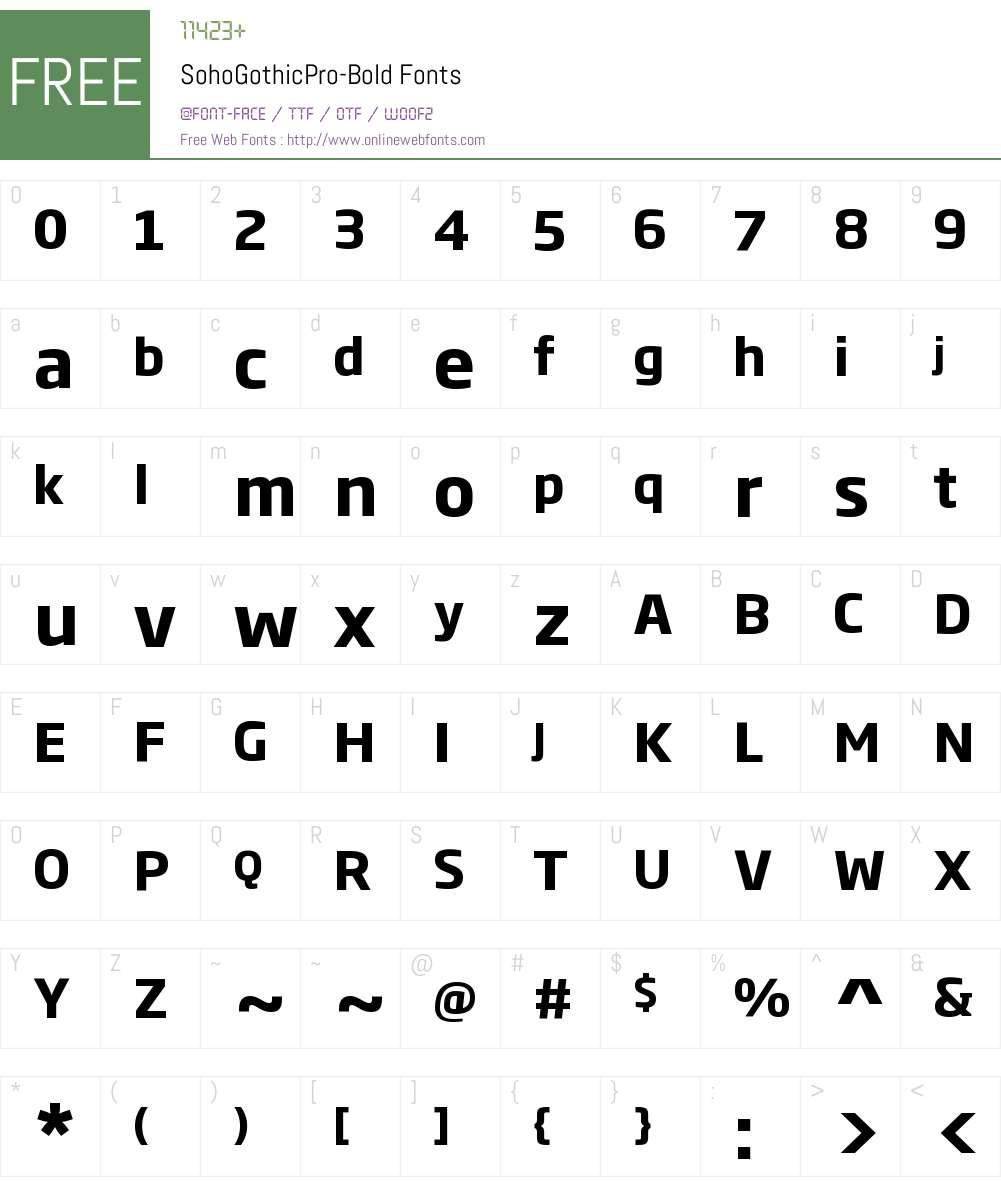 Soho Gothic Pro Font Screenshots