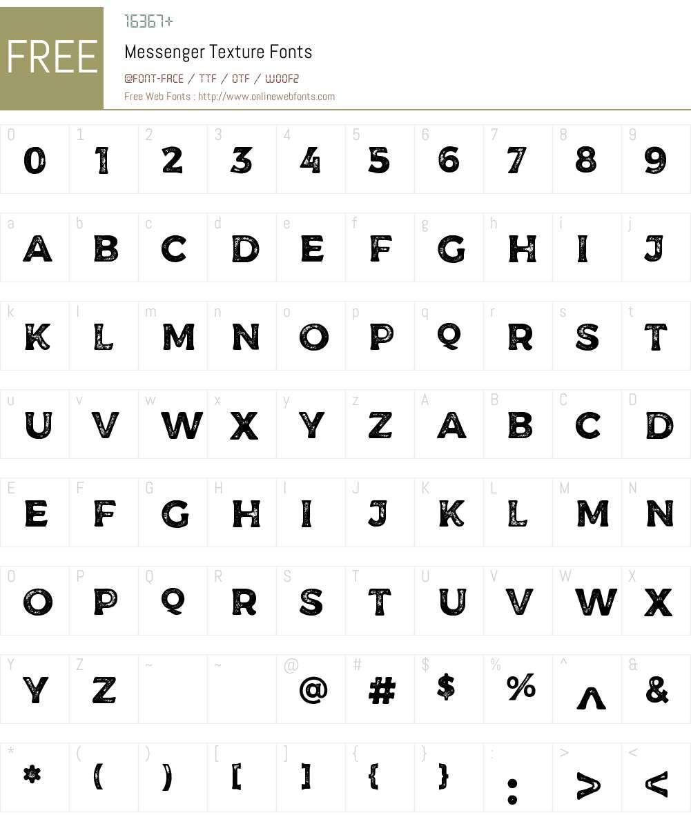 Messenger Texture Font Screenshots