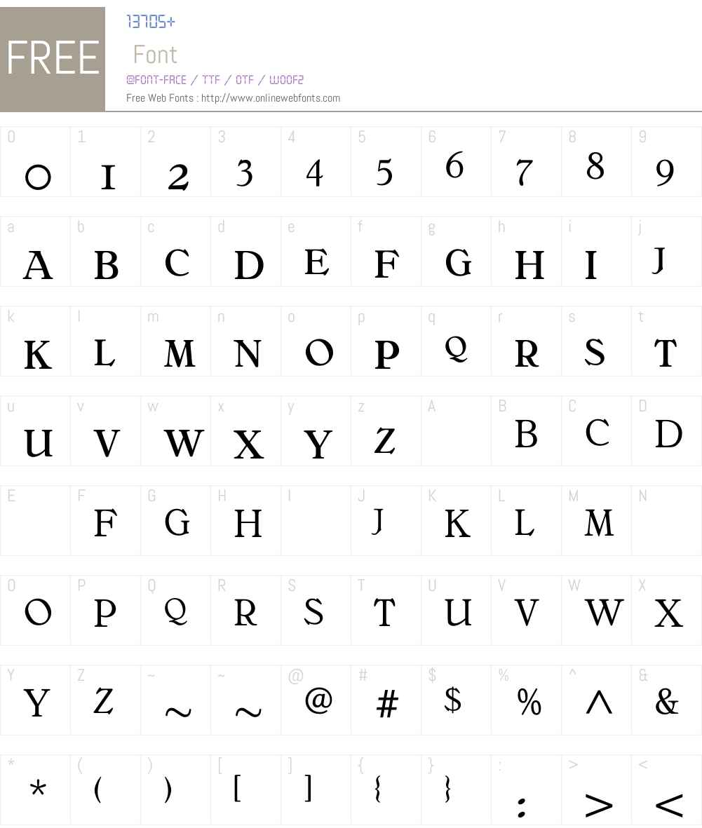 BelliniOriginalExpert Font Screenshots