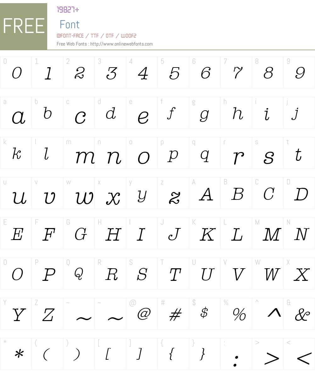 ITCAmTwriterHelW15-NormIt Font Screenshots