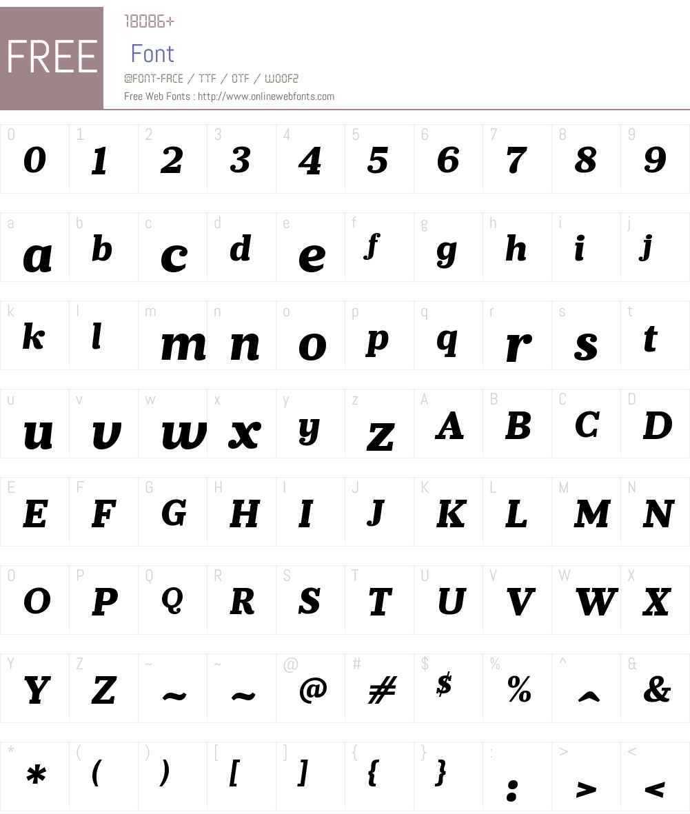 PrumoSlabW00-ExtraBoldIt Font Screenshots