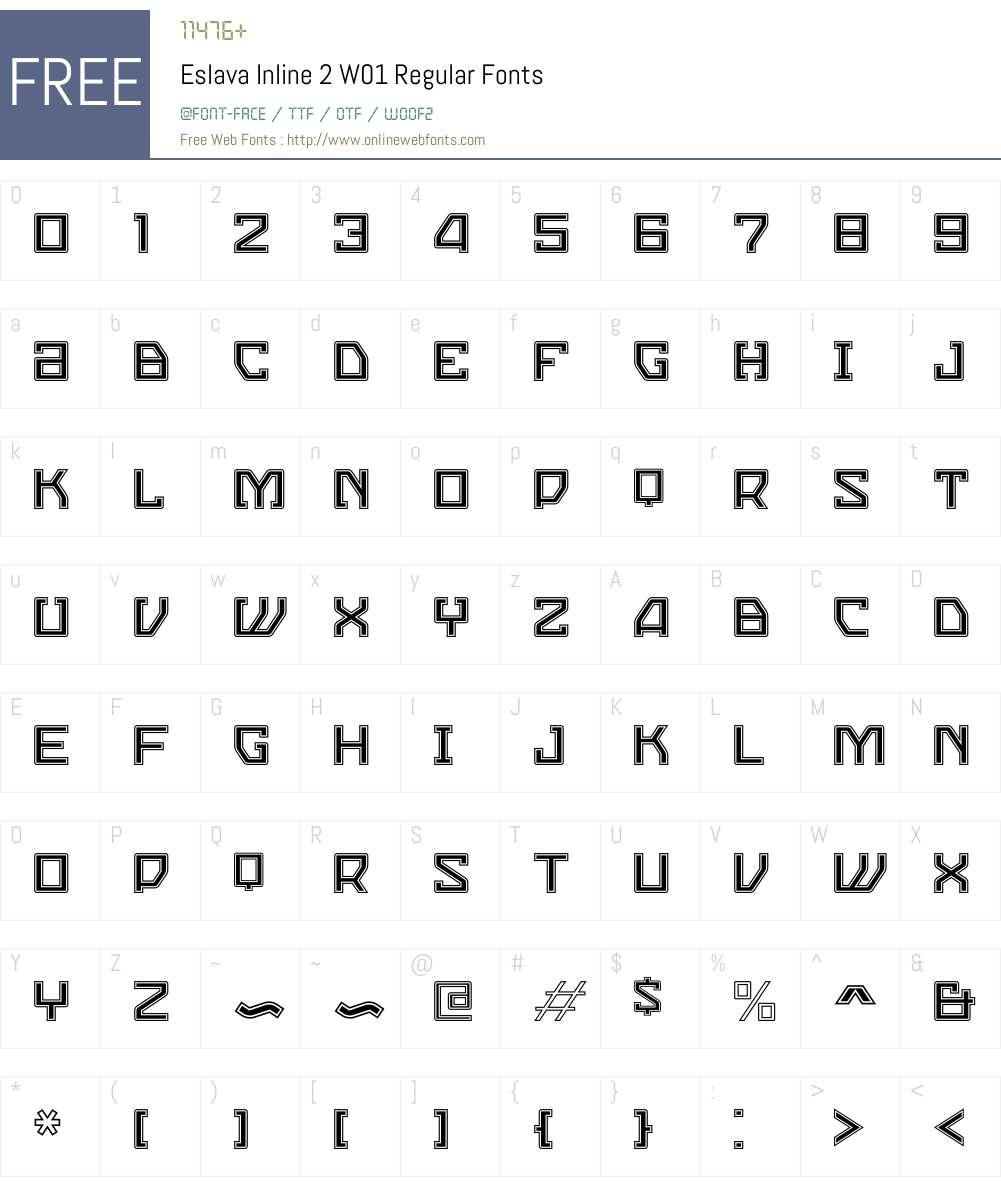EslavaInline2W01-Regular Font Screenshots