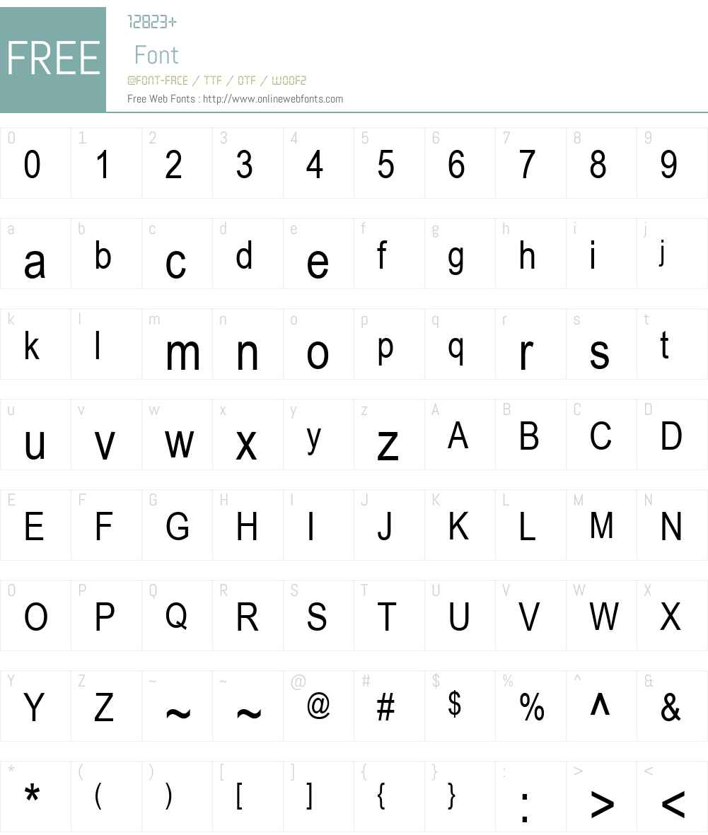 .VnArial Narrow Font Screenshots
