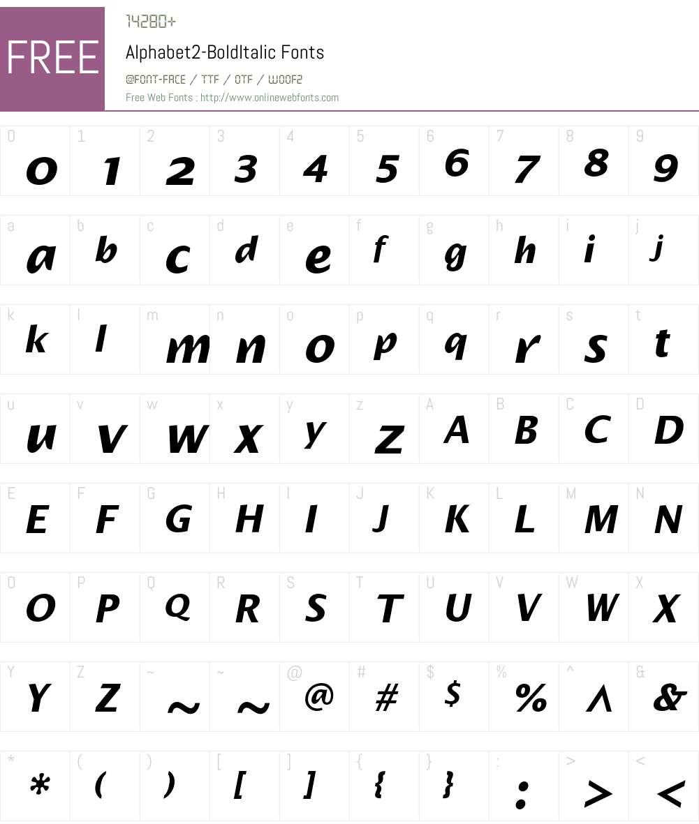 Alphabet2 Font Screenshots