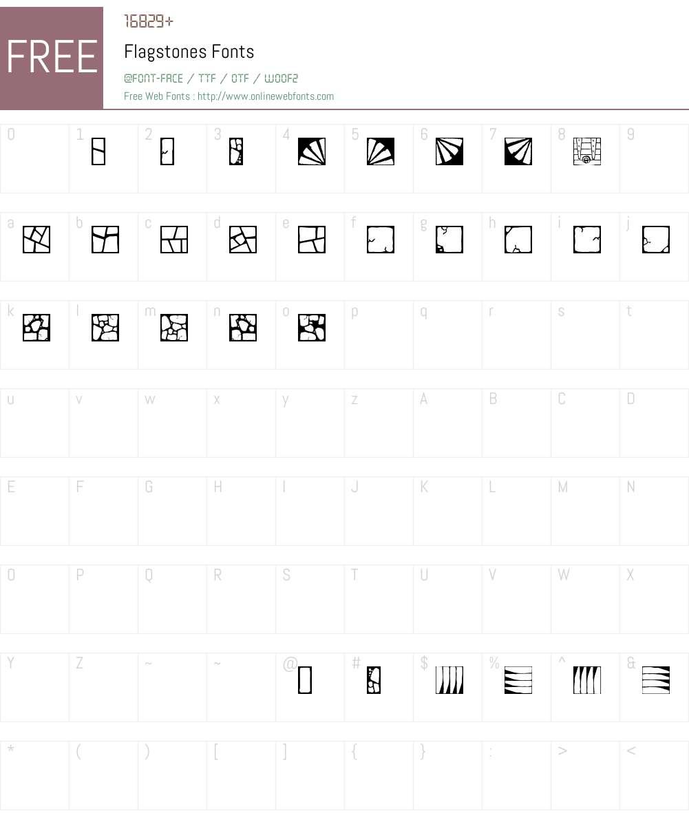Flagstones Font Screenshots