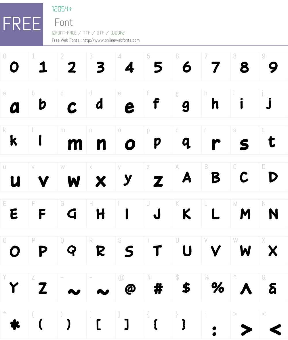 OmniscriptW01-Black Font Screenshots