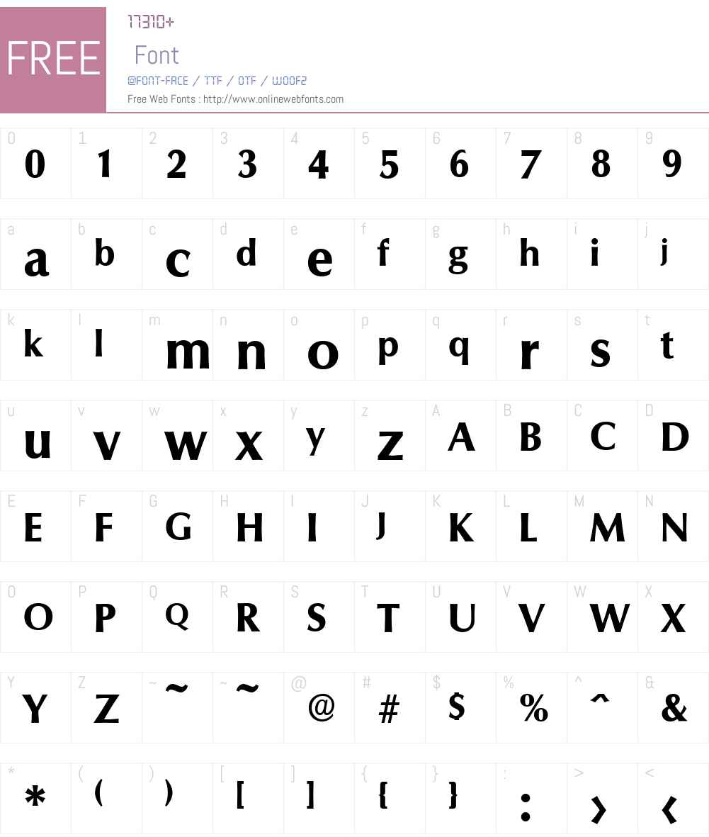 ColumbiaSerial-Xbold Font Screenshots