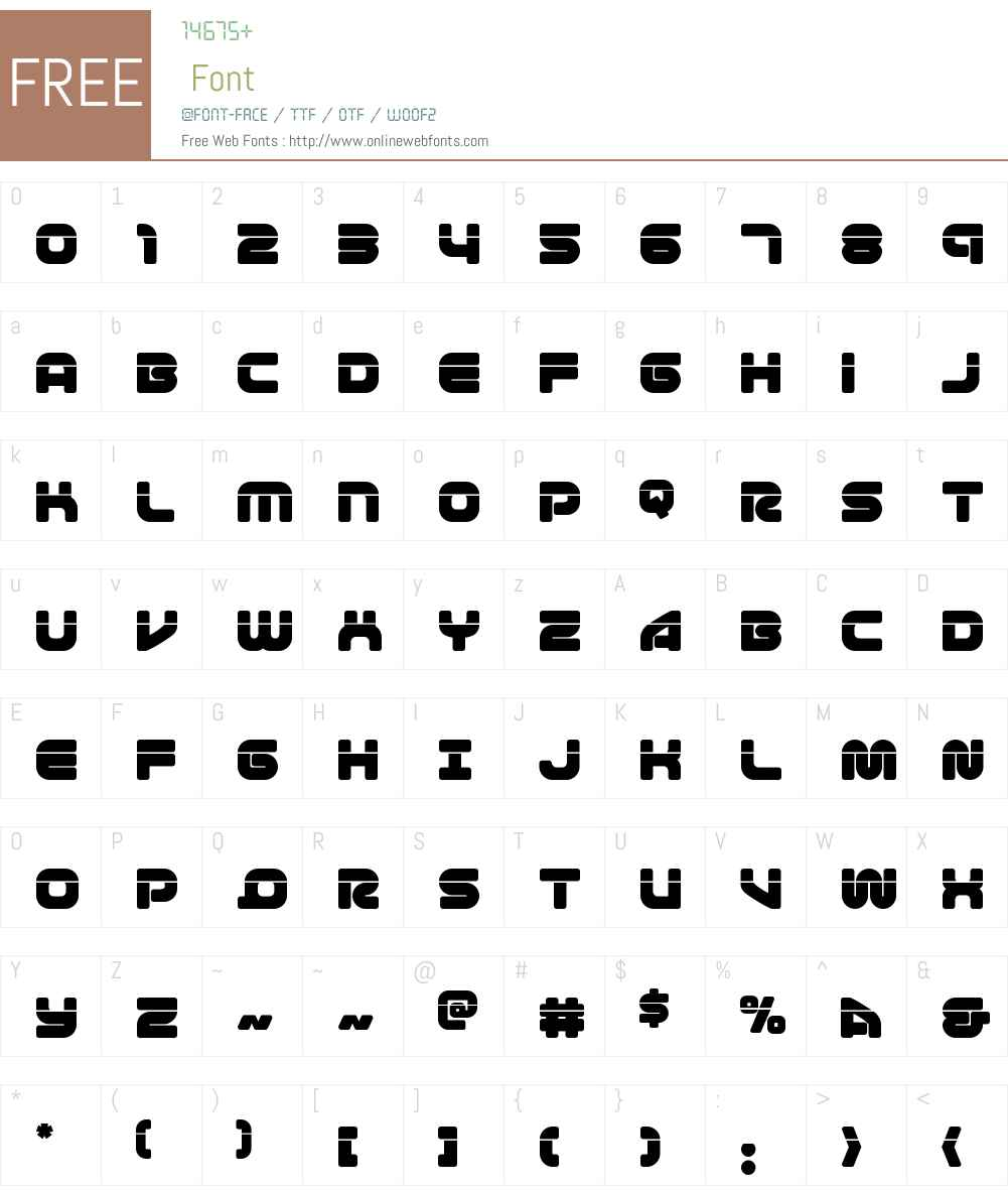 1st Enterprises Laser Font Screenshots