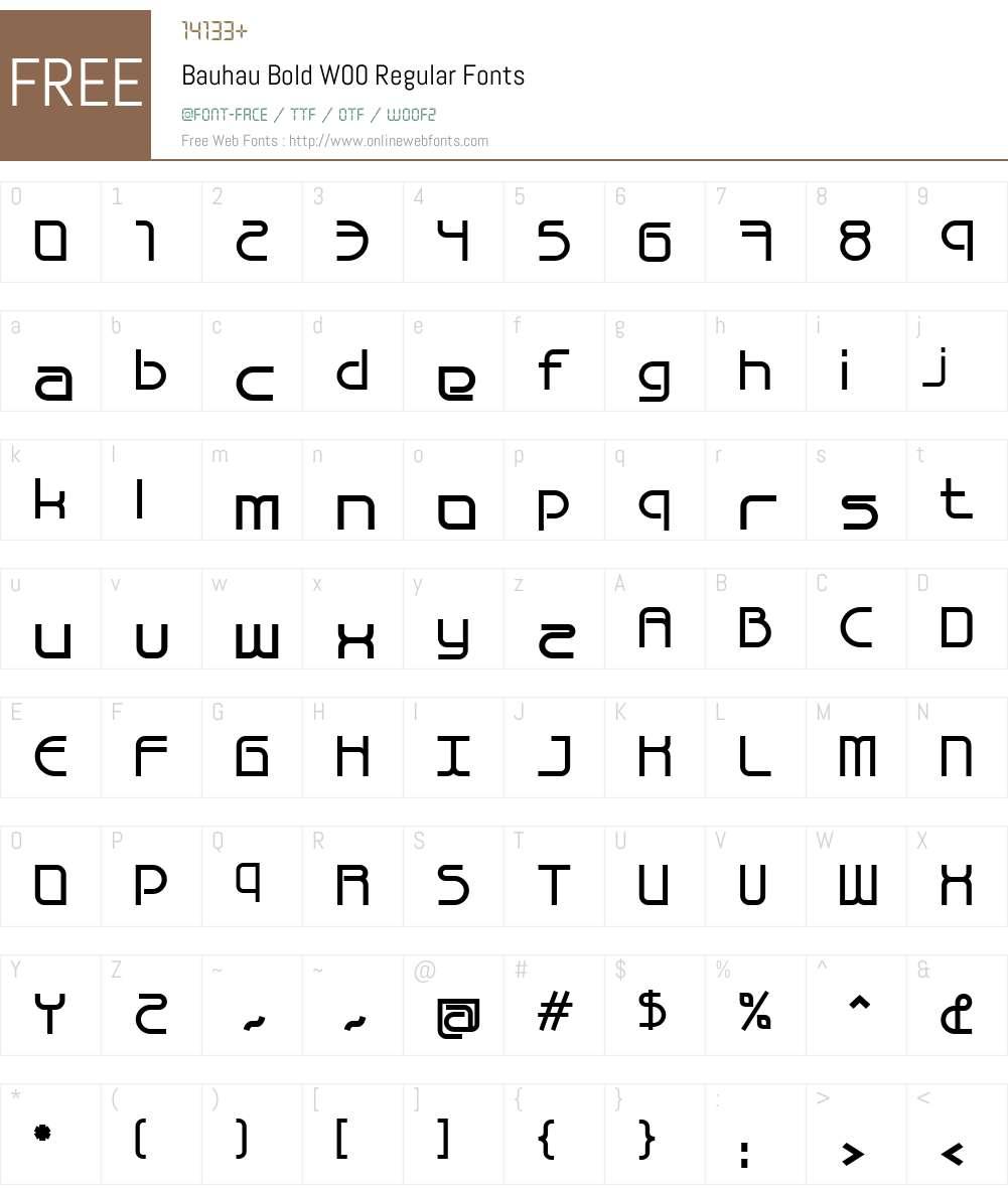 Bauhau Font Screenshots