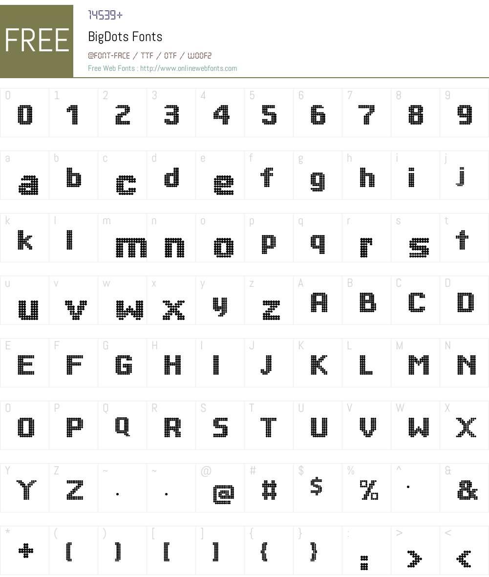 BigDots Font Screenshots
