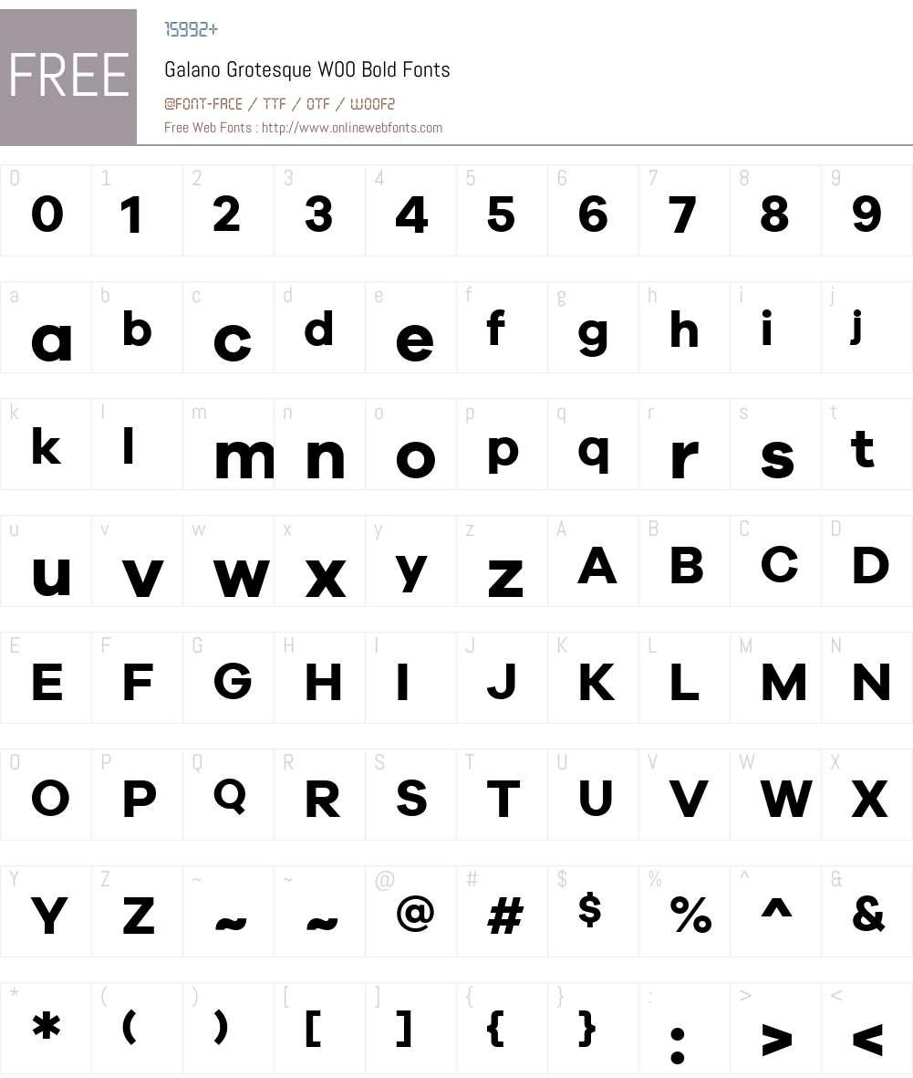 GalanoGrotesqueW00-Bold Font Screenshots
