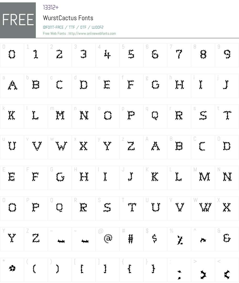 WurstCactus Font Screenshots