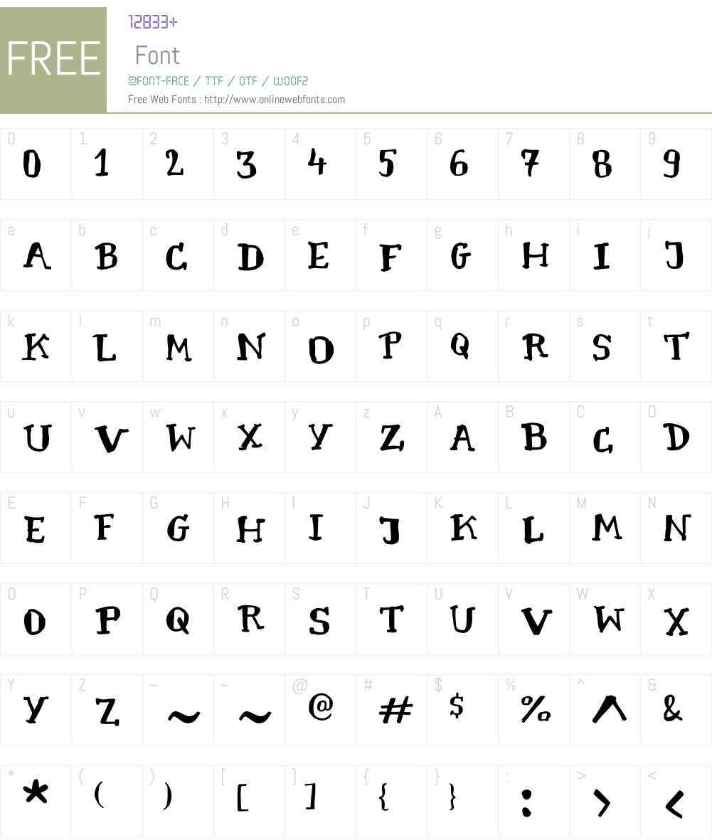 CartographerW00-Regular Font Screenshots