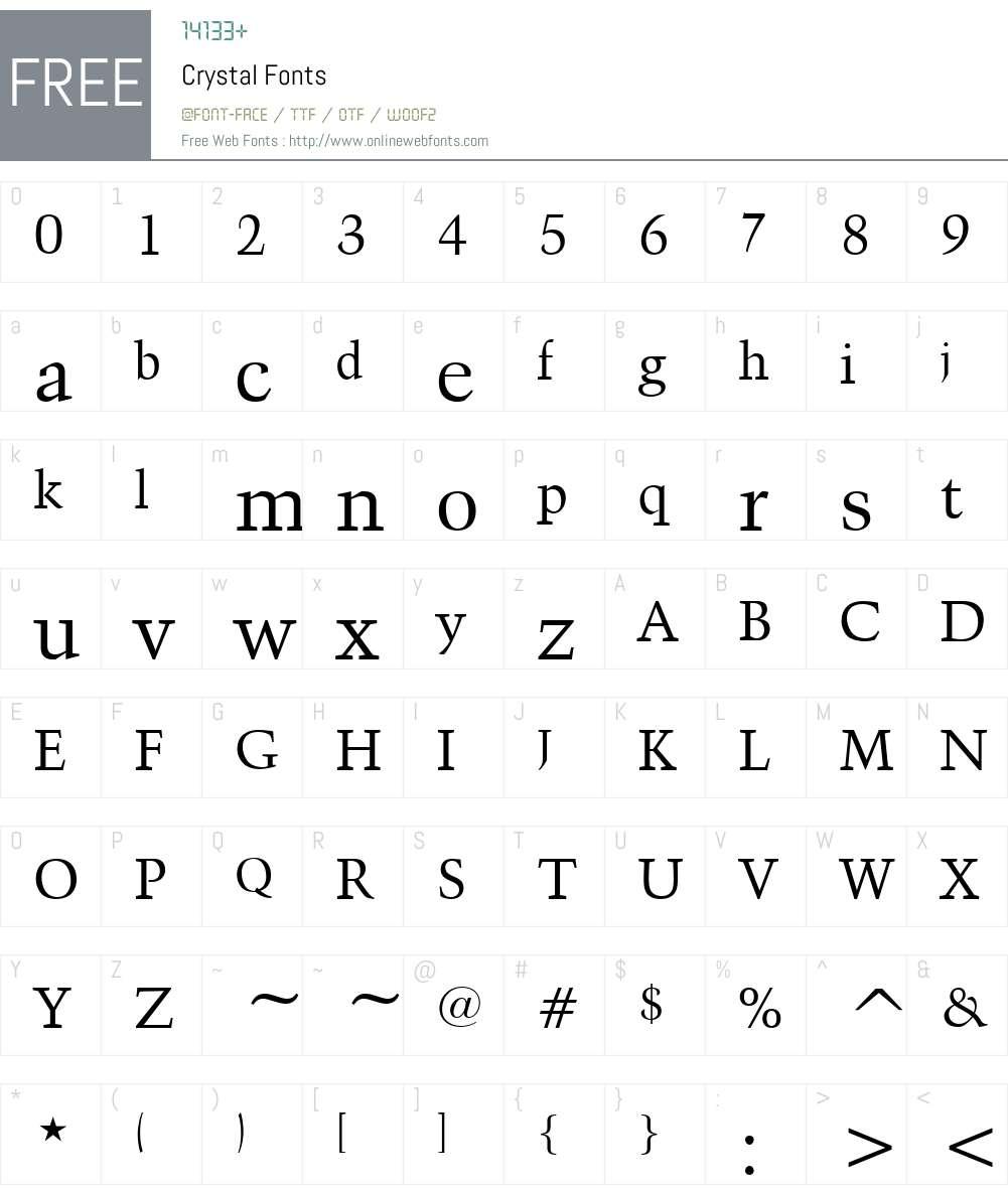 Crystal Font Screenshots