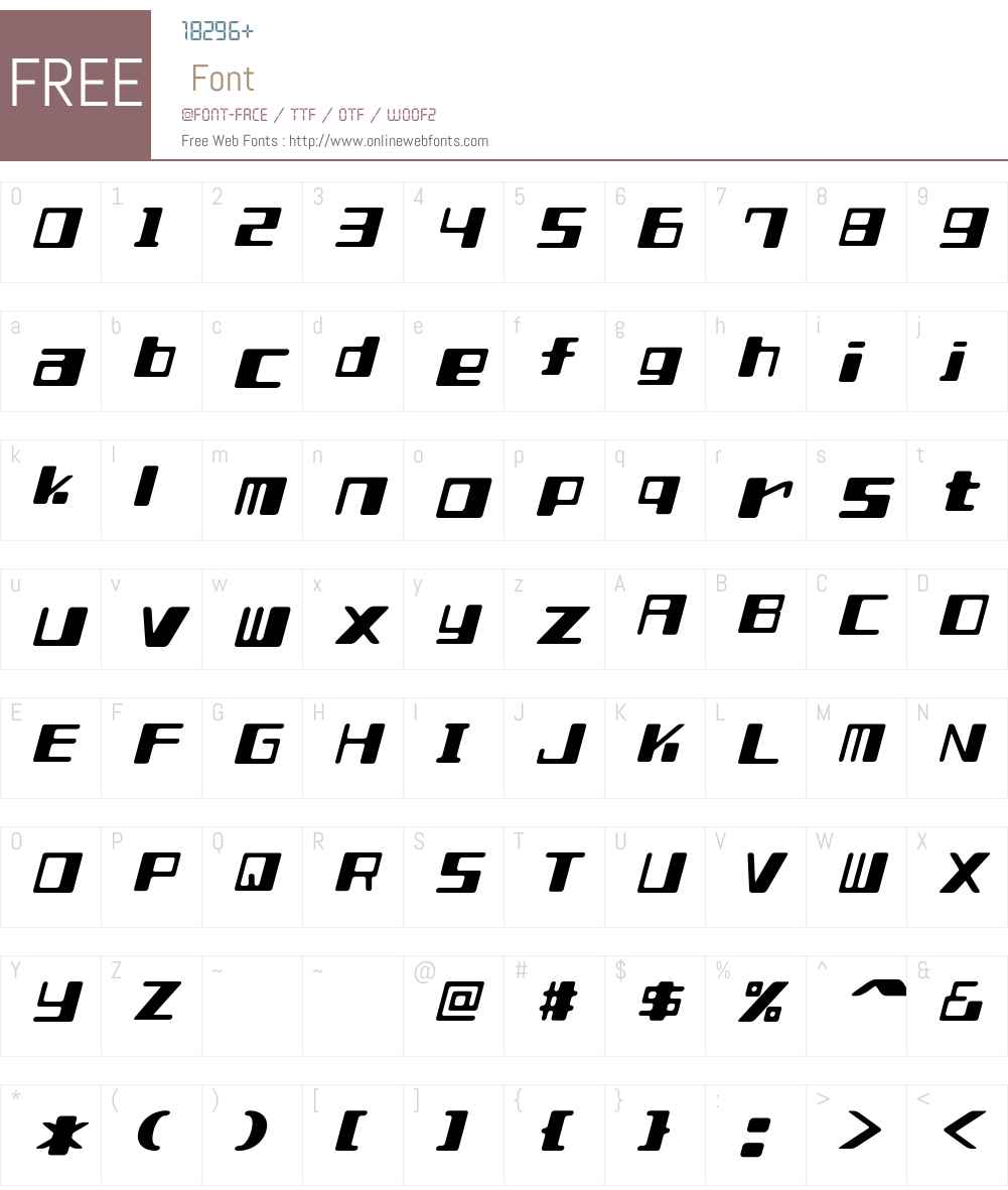 Shear 15_A Font Screenshots