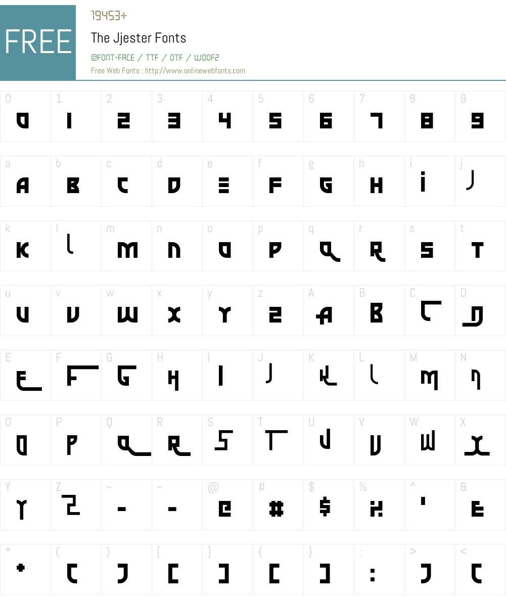The Jjester Font Screenshots