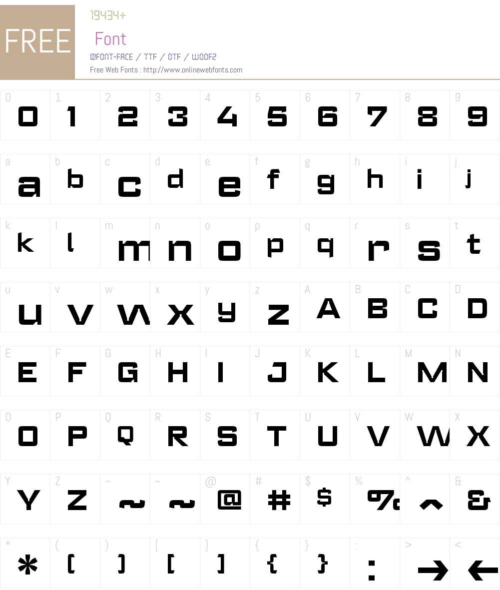 RegisterWideW00-Bold Font Screenshots