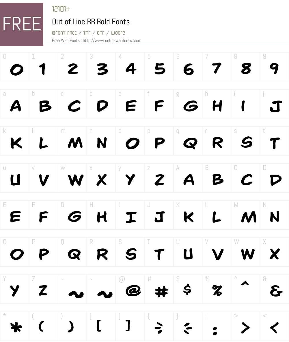 OutofLineBB-Bold Font Screenshots