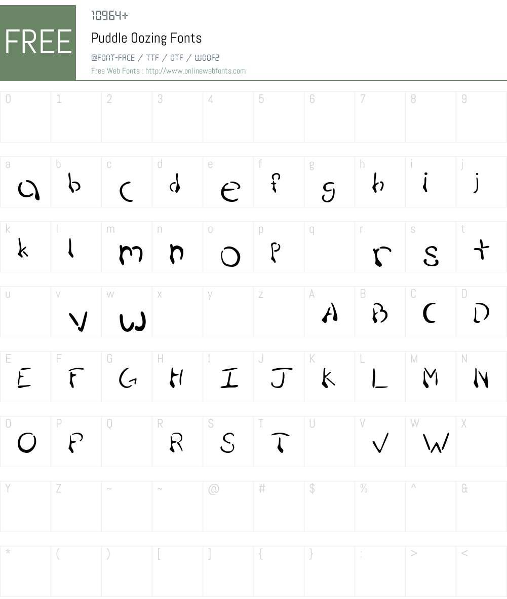 Puddle Font Screenshots