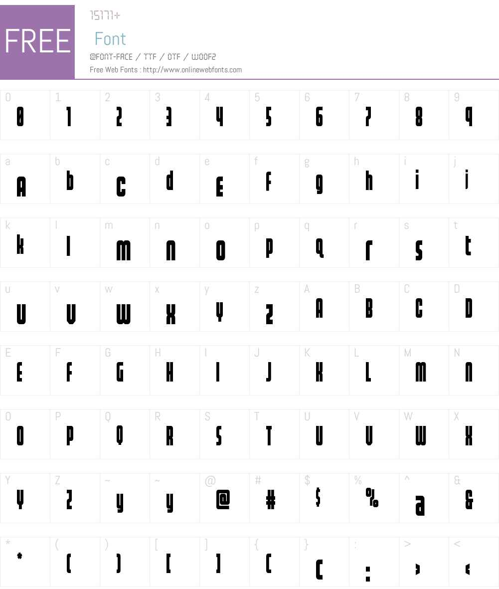 Homelander Condensed Font Screenshots