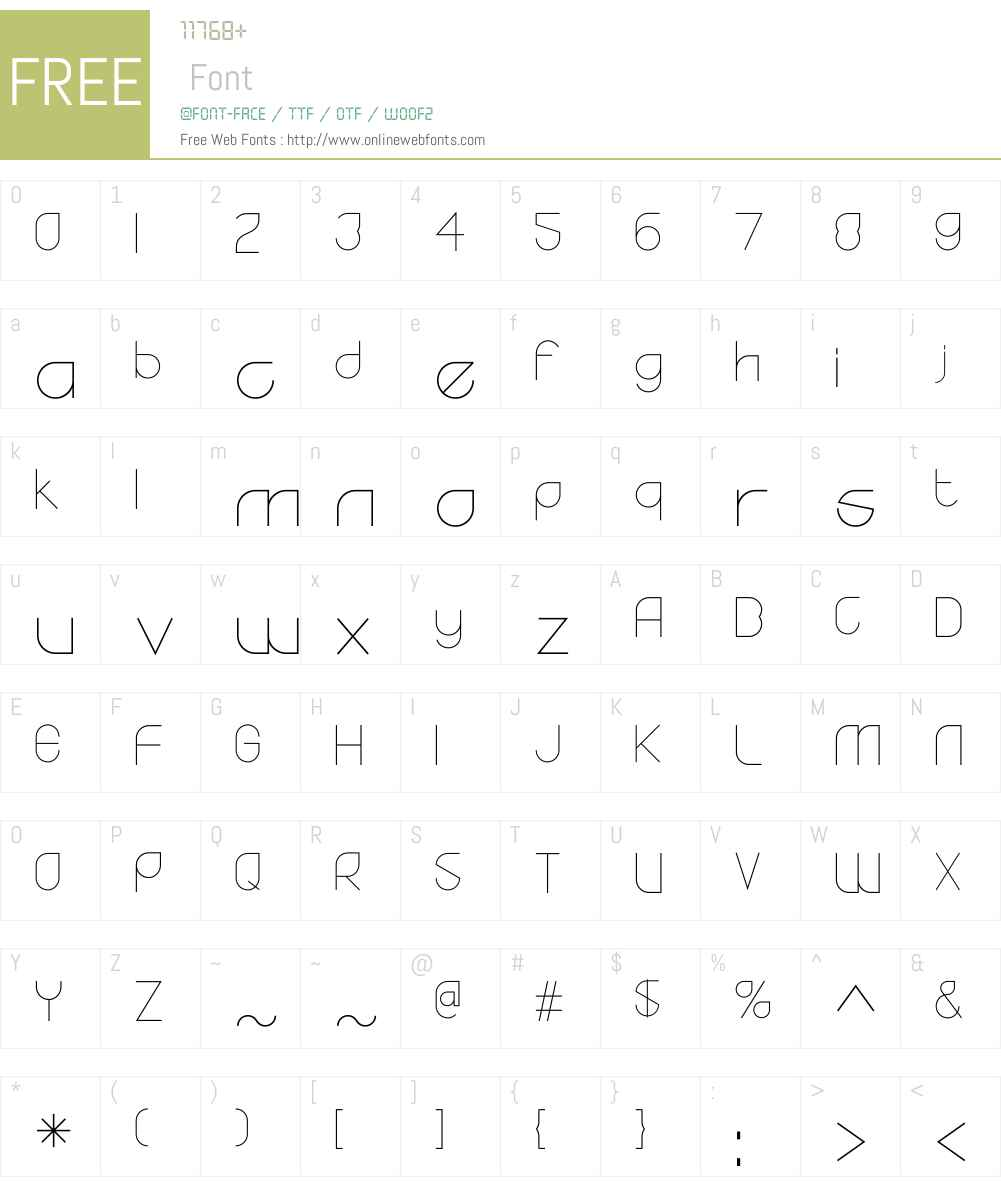 YodoW00-Light Font Screenshots