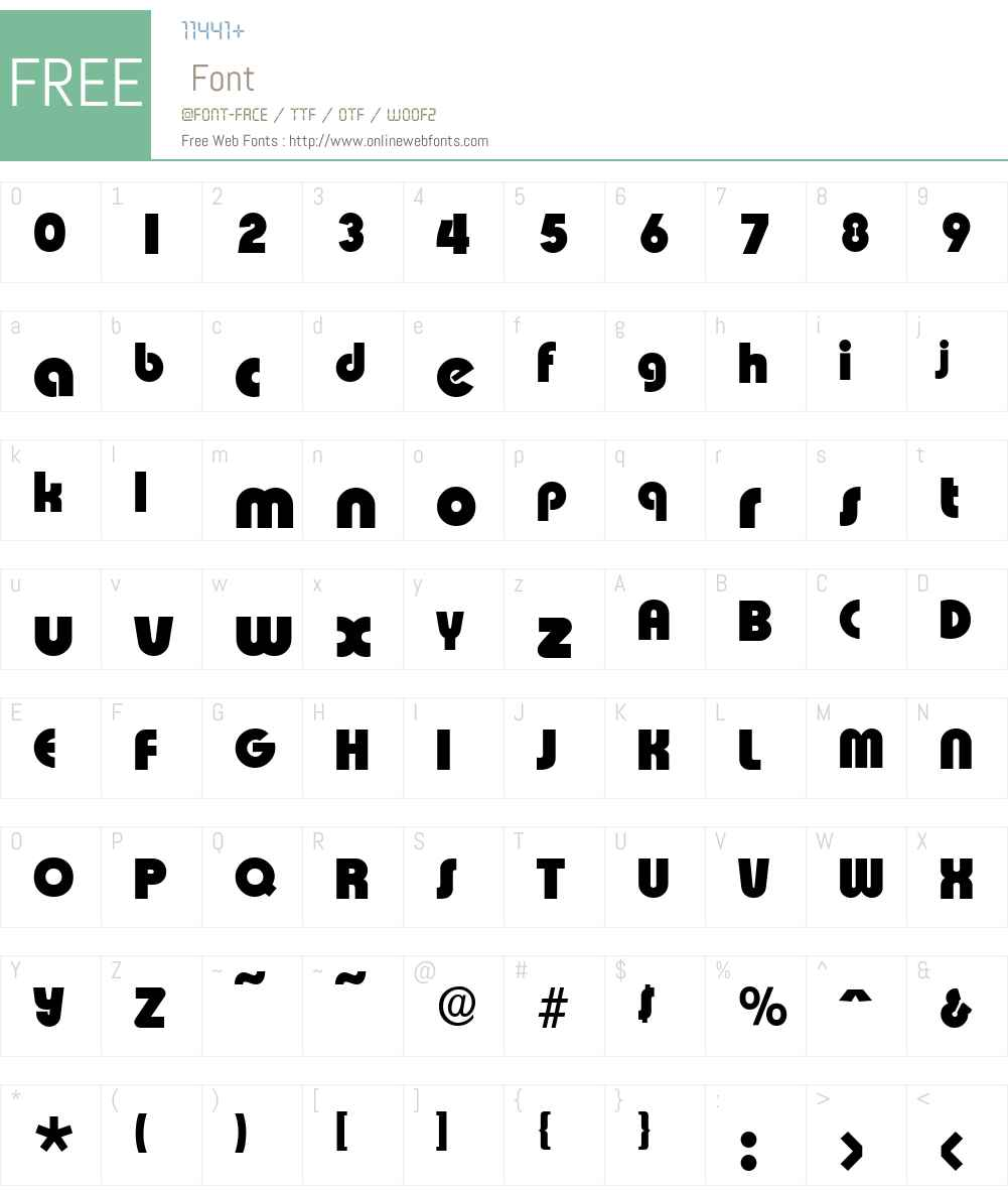 ExpressaSerial-Heavy Font Screenshots