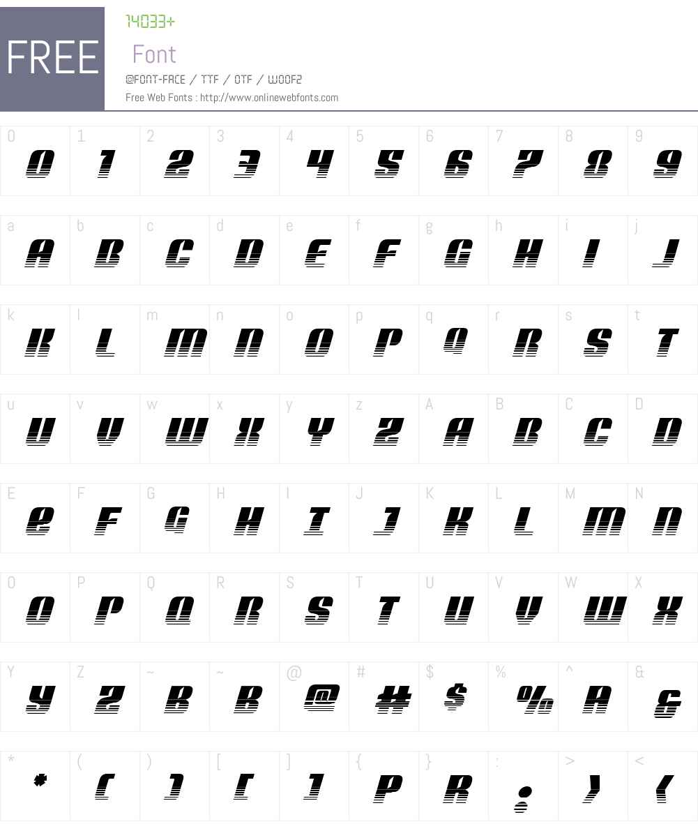 Nightwraith Two-Tone Italic Font Screenshots