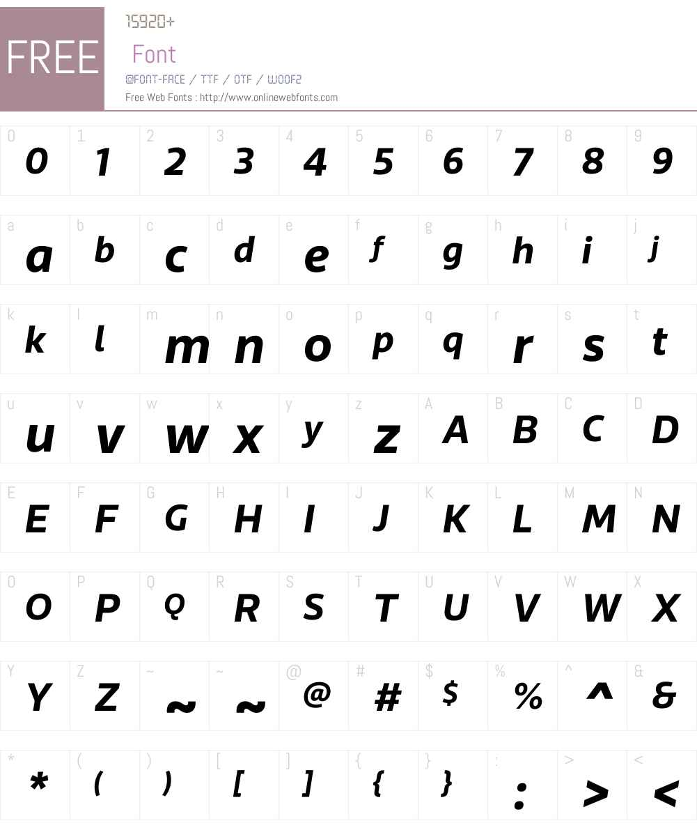 RionaSansW01-BoldItalic Font Screenshots